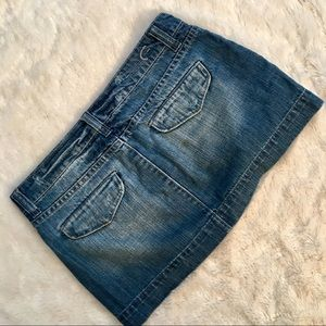 American Eagle Outfitters Skirts - American Eagle Distressed Jean Mini Skirt Size 6